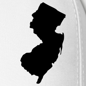 White New Jersey Silhouette  Caps - Baseball Cap