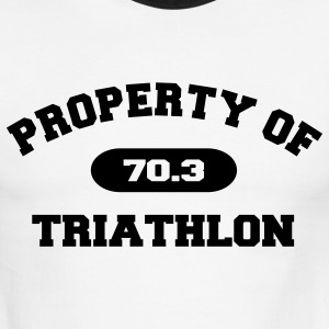 White/black Property of Triathlon 70.3 T-Shirts - Men's Ringer T-Shirt