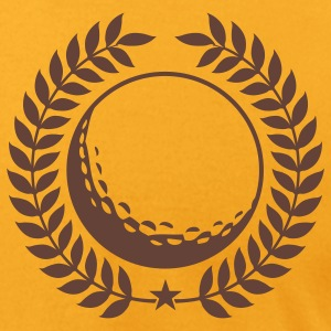 Gold Cool Golf ball Design T-Shirts - Men's T-Shirt by American Apparel