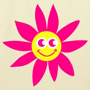 Creme smiling sunflower with face Bags  - Eco-Friendly Cotton Tote