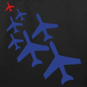 Black top gun planes in a chasing formation Bags  - Eco-Friendly Cotton Tote