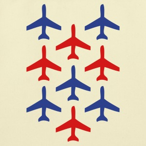 Creme top gun planes in formation Bags  - Eco-Friendly Cotton Tote