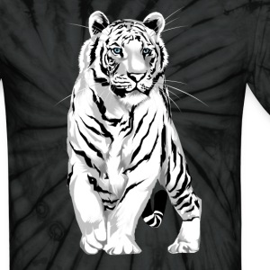 Stately White Tiger - Unisex Tie Dye T-Shirt