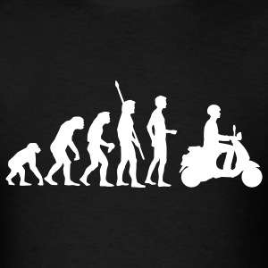 Black evolution_vespa T-Shirts - Men's T-Shirt