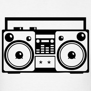 Stereo Music Boombox Old School 1c - Men's T-Shirt