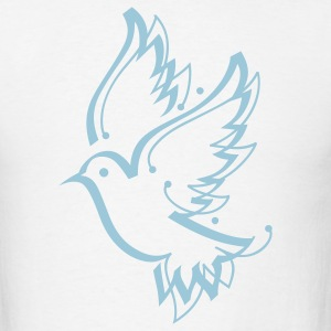 Dove Peace Calligraphy 1c - Men's T-Shirt