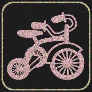 Black A TRICYCLE T-Shirts - Men's T-Shirt
