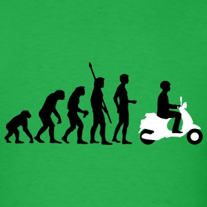 Bright green evolution_vespa_2c T-Shirts - Men's T-Shirt