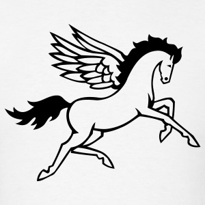 Pegasus Strong Horse Wings 1c - Men's T-Shirt