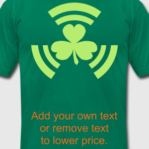 Radioactive Shamrock. - Men's T-Shirt by American Apparel