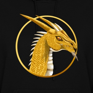 Gold Dragon Face circle - Women's Hoodie