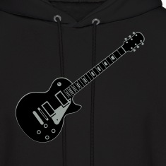 Black Guitar Les Paul Hoodies