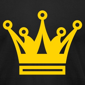 Black Crown Crest T-Shirts - Men's T-Shirt by American Apparel