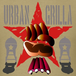 Urban Grilla, barbecue chef / cook - Men's T-Shirt
