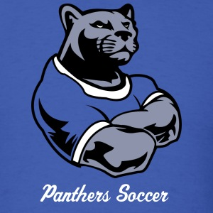 Royal blue Custom Panther Macot  T-Shirts - Men's T-Shirt