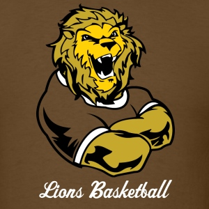 Brown Lions Custom Sports Graphic T-Shirts - Men's T-Shirt