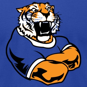 Royal blue Cool Custom Tiger Macot T-Shirts - Men's T-Shirt by American Apparel