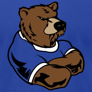 Royal blue bear T-Shirts - Men's T-Shirt by American Apparel