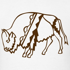 Buffalo Bison Indian Native 1c - Men's T-Shirt