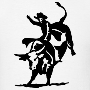 Bull Riding Cowboy Rodeo 1c - Men's T-Shirt
