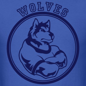 Royal blue Wolf or wolves Custom Teams Graphic T-Shirts - Men's T-Shirt