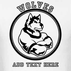 White Wolf or wolves Custom Teams Graphic T-Shirts - Men's T-Shirt