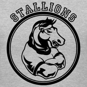 Gray Stallions Custom Teams Graphic Women's T-Shirts - Women's V-Neck T-Shirt