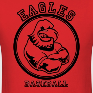 Red Cool eagle Custom Teams Graphic T-Shirts - Men's T-Shirt
