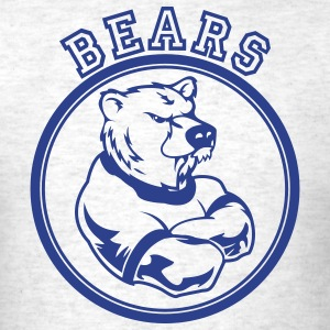 Light oxford Bears Custom Teams Graphic T-Shirts - Men's T-Shirt