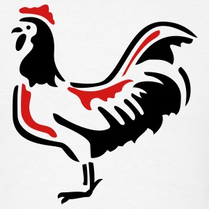 Rooster Chicken Hen 2c - Men's T-Shirt