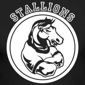 Black Stallions or Stallion Team Graphic Long Sleeve Shirts - Men's Long Sleeve T-Shirt by Next Level