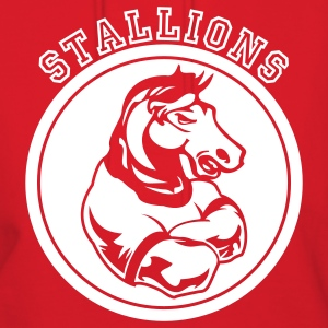 Red Stallions or Stallion Team Graphic Hoodies - Women's Hoodie