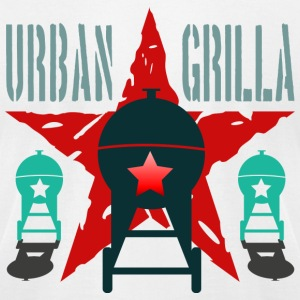 Urban Grilla BBQ, barbecue chef / cook 2 - Men's T-Shirt by American Apparel