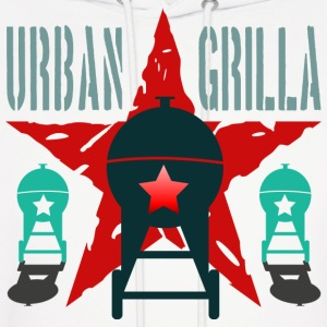 Urban Grilla BBQ, barbecue chef / cook 2 - Men's Hoodie