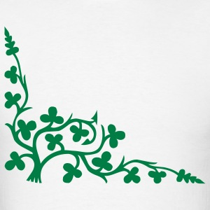Vine Clovers Thorns Leaves 1c  - Men's T-Shirt