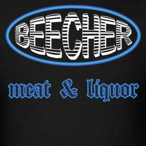 Black Beecher Meat & Liquor (blue) T-Shirts - Men's T-Shirt
