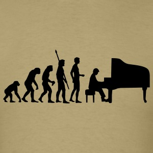 Khaki evolution_pianist T-Shirts - Men's T-Shirt