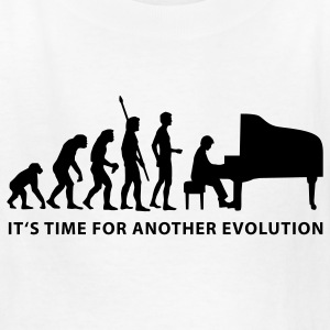 White evolution_pianist_b Kids' Shirts - Kids' T-Shirt