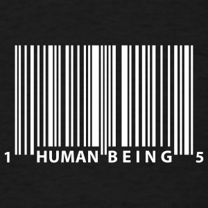 Black barcode_human_being T-Shirts - Men's T-Shirt