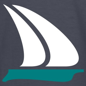 Navy sailboat (2c) Kids' Shirts - Kids' Long Sleeve T-Shirt