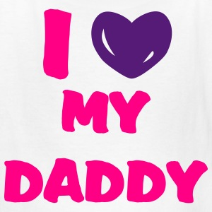 White i heart daddy Kids' Shirts - Kids' T-Shirt