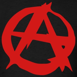 Anarchy, black, T-Shirts, tees, shirts, A, Punk, Music, Rock, Pop, House, Emo, Electro, eushirt.com - Men's T-Shirt