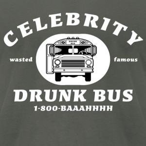 Celebrity Drunk Bus - Men's T-Shirt by American Apparel