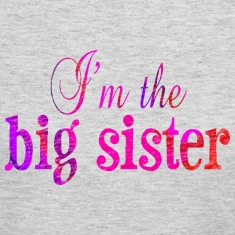 Gray I'm the BIG SISTER Long Sleeve Shirts