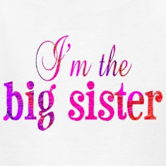 White I'm the BIG SISTER Kids' Shirts