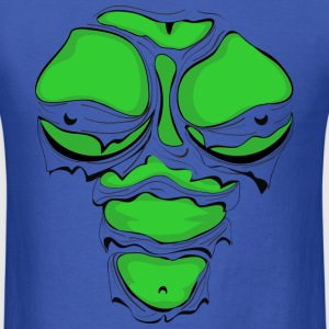 Ripped Muscles Female Green, chest T-shirt, comicbook breasts - Men's T-Shirt