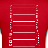 Design ~ Red & White Length Shirt SL +
