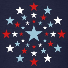 Navy STAR STARS AMERICAN EXPLOSION Vector A T-Shirts