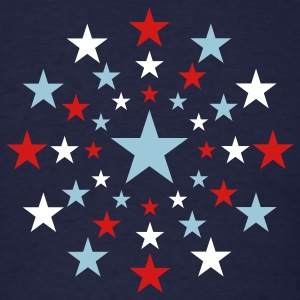 Navy STAR STARS AMERICAN EXPLOSION Vector A T-Shirts - Men's T-Shirt
