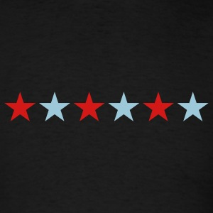 Black STAR STARS MILITARY BARS Vector B T-Shirts - Men's T-Shirt